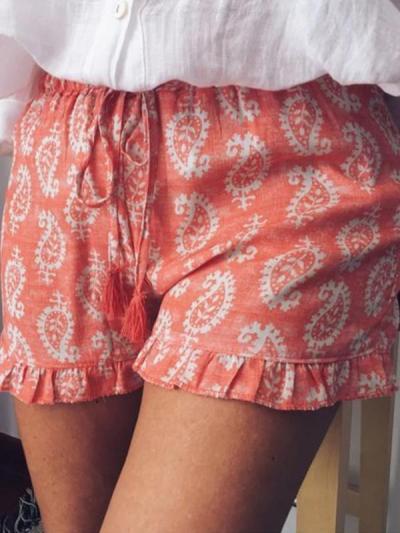 Printed Cotton-Blend Pants
