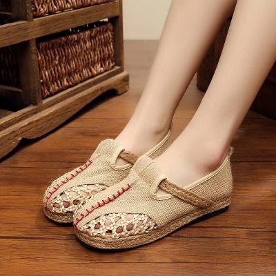 Breathable Linen Shoes Summer Hand-woven Mesh Shoes