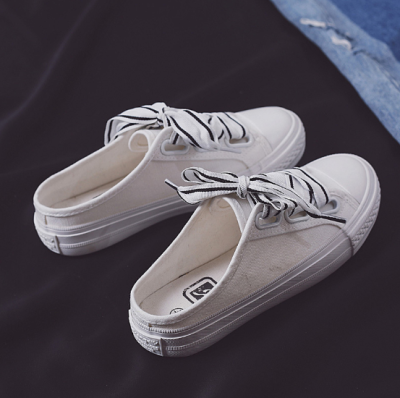 White Flat Heel Lace-up Daily Spring/Fall Loafers