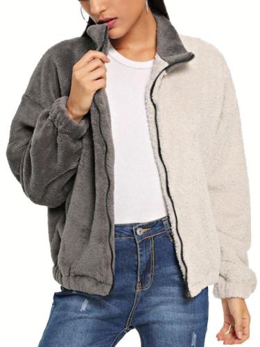 Two Tone Vintage Cotton Lapel Coat