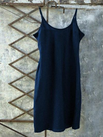 Casual Sleeveless Plus Size Solid Dress
