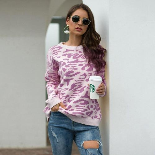 Women's Autumn and Winter New Style Sweater Camouflage Leopard Pullover Sweater Women Knit Sweater Women Pullover