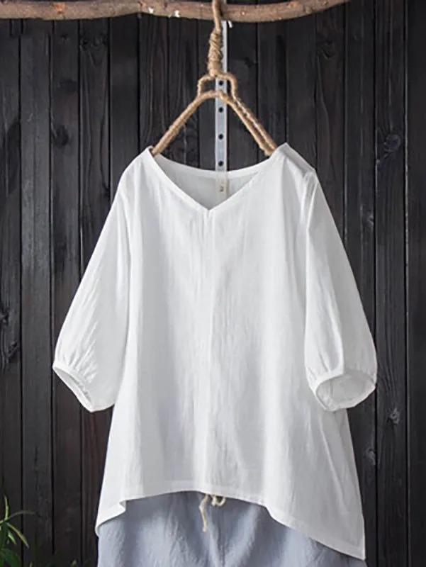 Casual Half Sleeve Cotton Shirts & Tops