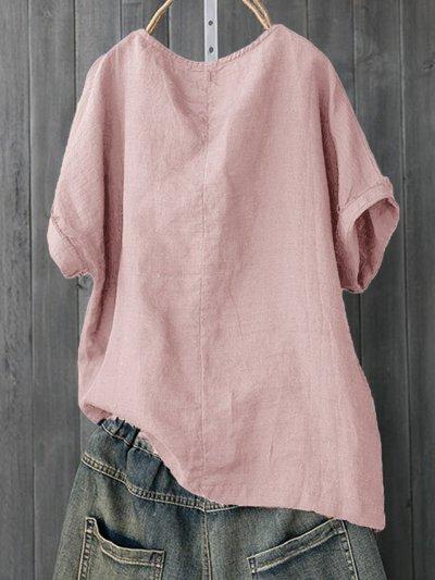 Plus Size Fish Bone Print Casual Women Summer T-shirts