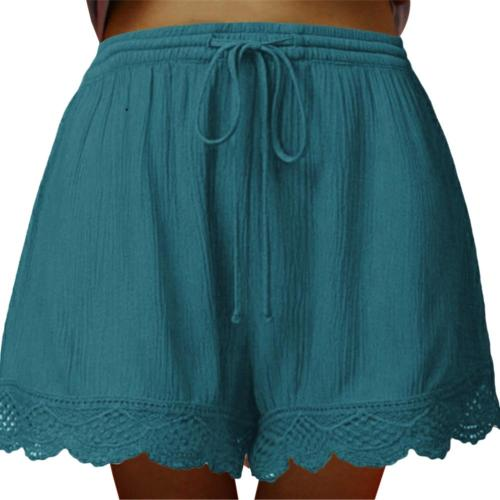 Causal Shorts Women Plus Size High Waist Shorts Drawstring Short Pants Loose Shorts Pants