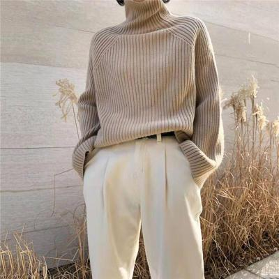 Elegant Fashion High Neck Long Sleeve Sweaters