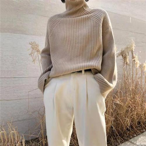 Elegant Fashion High Neck Long Sleeve Sweaters