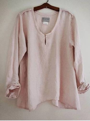 Plus Size Solid Blouses Long Sleeve Crew Neck Tops