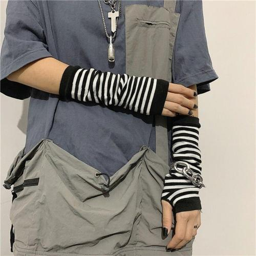 Long Fingerless Gloves Cuff Sport Outdoor Elbow Length Mittens Cool Stretch winter Arm Warmer