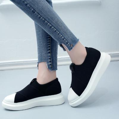 Black Spring/Fall Flat Heel Daily Elastic Cloth Flats