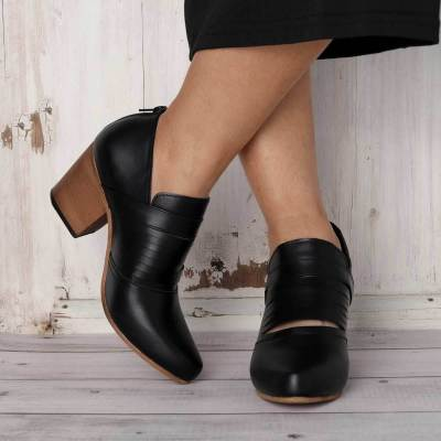 Women Vintage Ankle Boots Casual Chic Zipper Boots