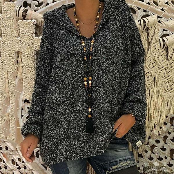 Bat Sleeve Hooded Casual Sweaters