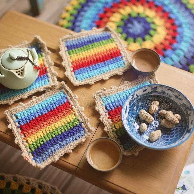 Rainbow Pastoral Colorful Hand Hook Set