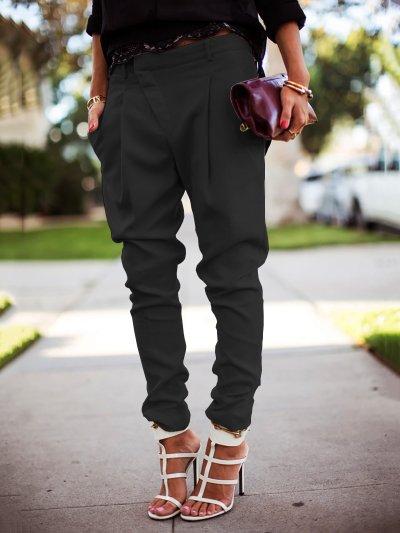 Casual Solid Harem Pants