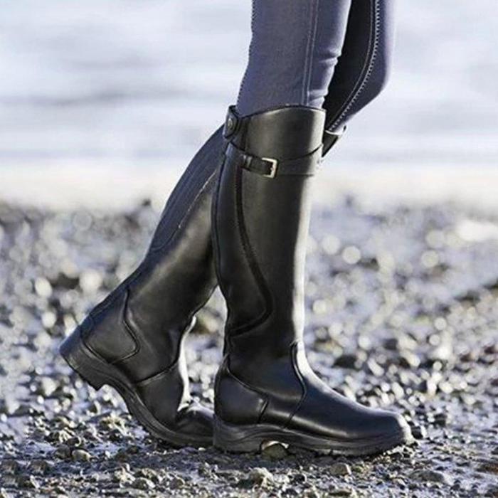 Women Daily Casual Slip on  Knee High  Riding Boots