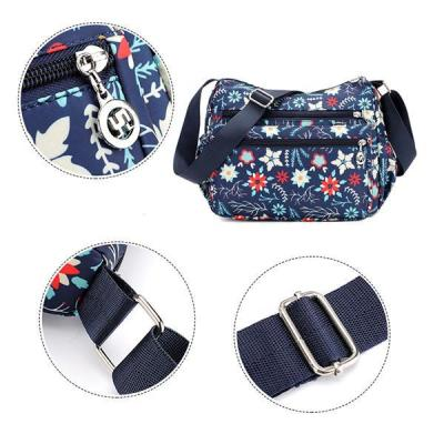 Women Flower Pattern Waterproof Lightweight Shoulder Bags Crossbody Bags