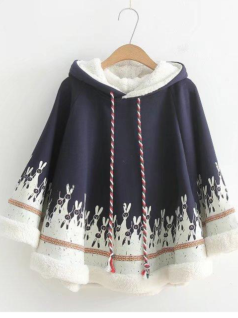 Long Sleeve Casual Cloak Outerwear