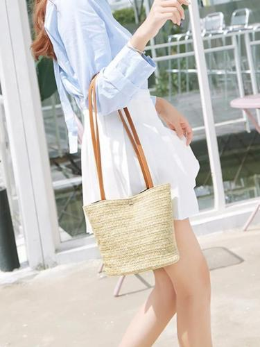 Women's Beach Snap Fastener Bag Handbag