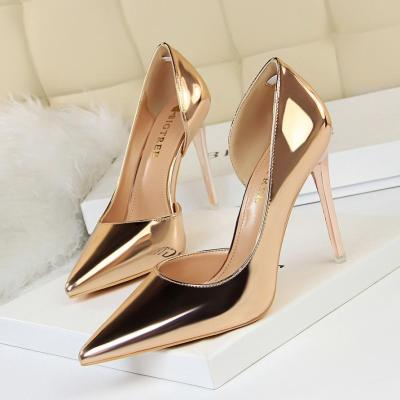 Women Pumps Fashion Patent Leather Classic Pumps Sexy High Heels Wedding Shoes
