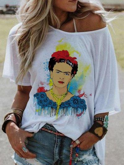 Women's Casual Short Sleeve Printed Tops