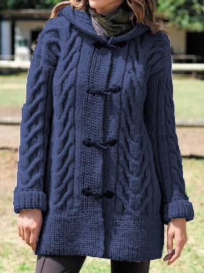 Hoodie Long Sleeve Cotton-Blend Outerwear