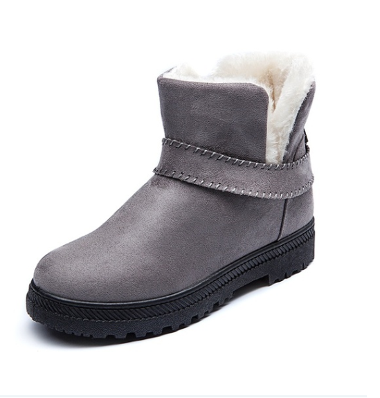 Women Fashion Suede Ankle Cotton Booties Snow Boots Suede