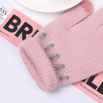 Fashion Cute Touch Screen Mittens Cartoon Cats Winter Warm Knitted Gloves