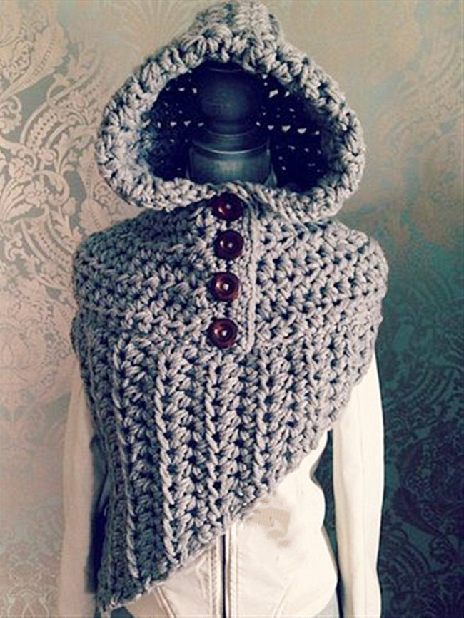Autumn Winter Casual Daily Basic Hoodie Knitted Scarves & Shawls