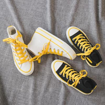 Women's Fashion Casual Solid Color High Canvas Sneakers