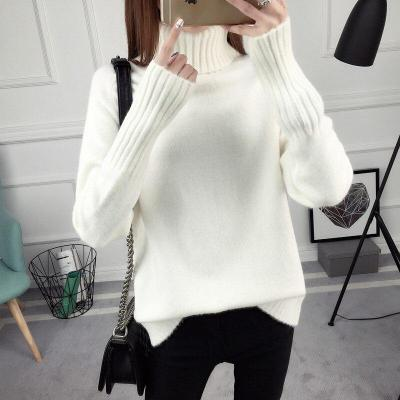 2020 New Style for Autumn and Winter Loose Turtleneck Pullover Sweater Women Long Sleeve Wild Bottoming Sweater Thickening