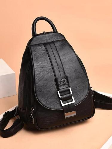 2 in 1 Women Leather Backpack+Crossbody Sling Shoulder Bag