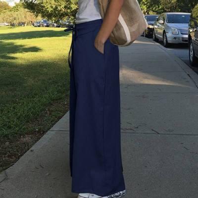2020 Fashion Long Trousers Women's Wide Leg Pants