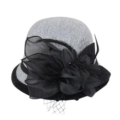 Lady Top Hat Autumn And Winter Fashion Woolen Cloche Hats Woman Wool Felt Top Hat