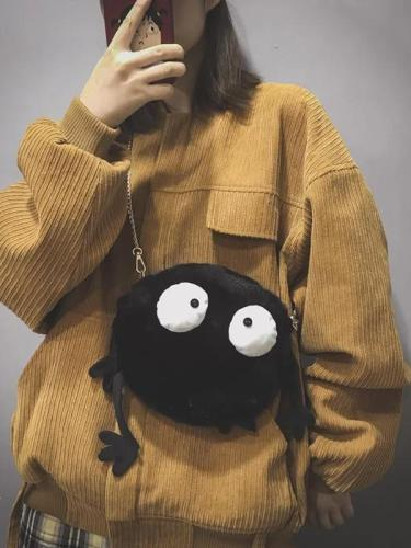 Cute Big Eyes Design Crossbody Bag
