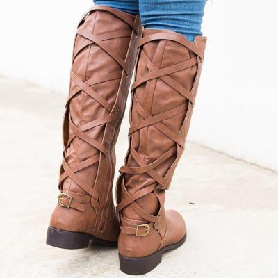 Black PU Chunky Heel Zipper Casual Winter Boots