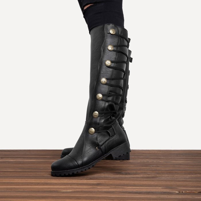 Women Premium Quality Leather Knee-High Boot Shoes