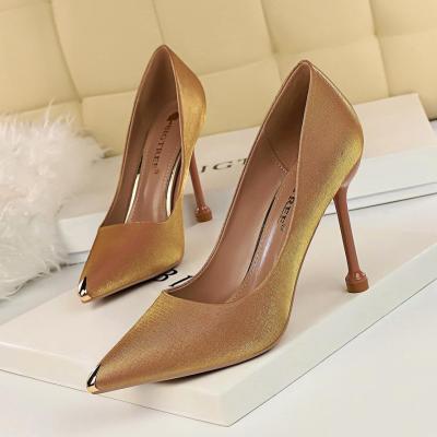 Metal Pointed Toe Elegant Women Pumps Stilettos High Heels Party Office Shoes