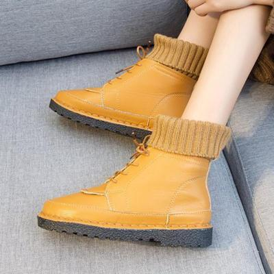 Women Booties Casual Lace Up Shoes