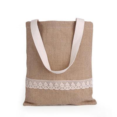 Women Canvas Lace-decor Solid Casual Shoulder Bags