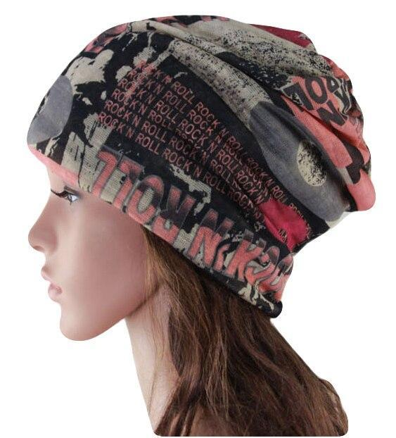 Fashion Letter Muffler Scarf High Quality Winter Hats for Women Cap