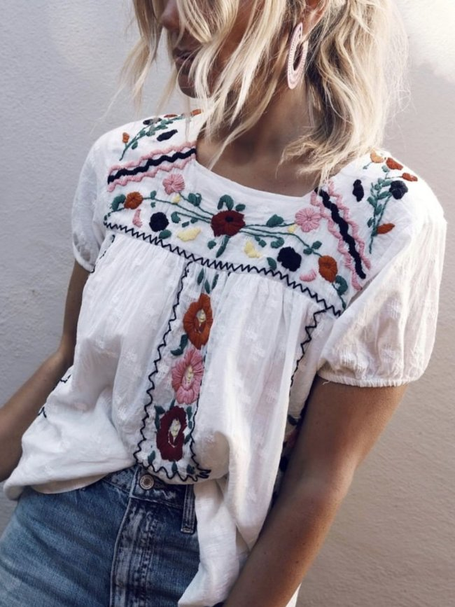 Casual Floral Shirts & Tops
