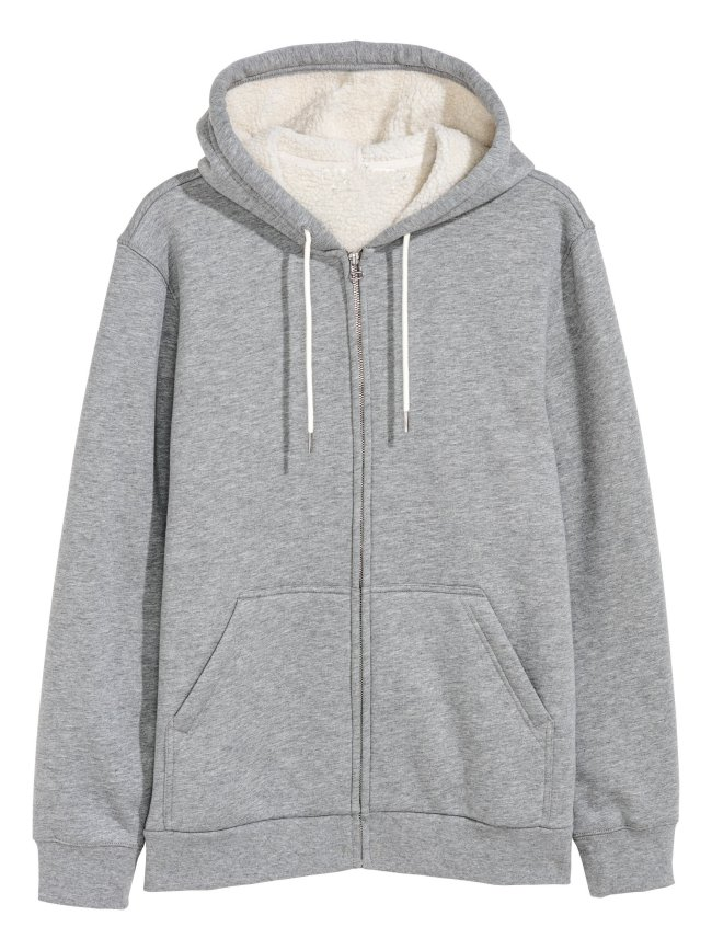 Gray Cotton-Blend Outerwear