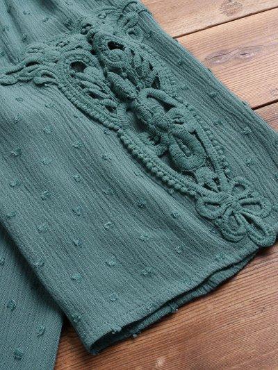Women Casual Lace Cutout Tops Tunic Blouse Shirt