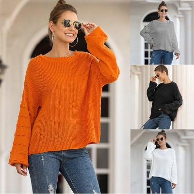 New Fashion Women's Sweater Bubble Lantern Sleeve Sweater for Autumn and Winter 2020 Knit Sweater
