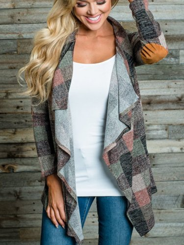 Patchwork  Colouring  Long Sleeve Cardigan