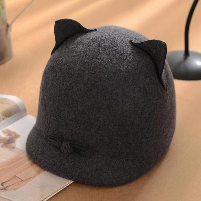 Fashionable Cute Cat Felt Beret Hat