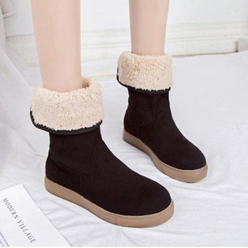 Women's Round Toe Casual Low Heel Boots