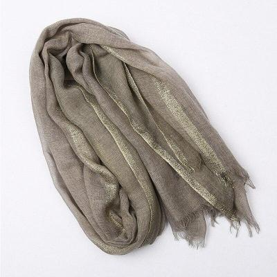 Linen Cotton Scarf Women Solid Color Muslim Hijab Scarves Shawls Plain  Big Pashmina Wrap Head Hair Scarf