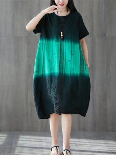 A-Line Short Sleeve Casual Dresses