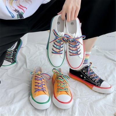 Women's color canvas casual shoes